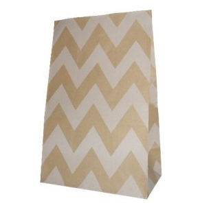 Chevron Party bitty bags Set of 12/ Ζικζακ χαρτινα σακουλακια Σετ των 12