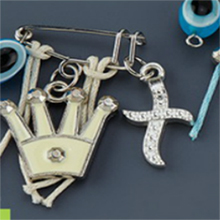 Witness pins with cross and crown 50pcs / Μαρτυρικά με σταυρό και εκρού κορώνα 50τμχ